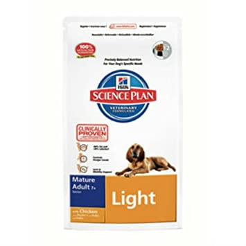Hills Science Plan Light Mature Dog Food With Chicken 3kg Amazon