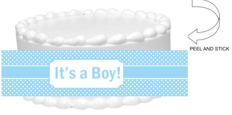 Item#44829 - Blue Polka Dots Baby Shower Baby Boy Peel an...