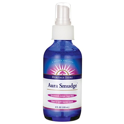 Aura Smudge Juniper Sage Spray Heritage Store 4 oz Spray