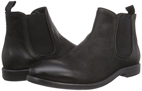 010 Washed Boot Chelsea Nero Stivaletti Leather Uomo Mentor black B8q4q