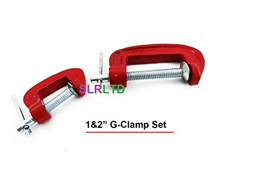2 x G CLAMPS - 1' & 2' SET - FREE DELIVERY SLRLTD