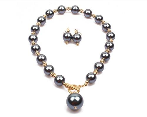 Korway beaded necklace & drop earrings set 18