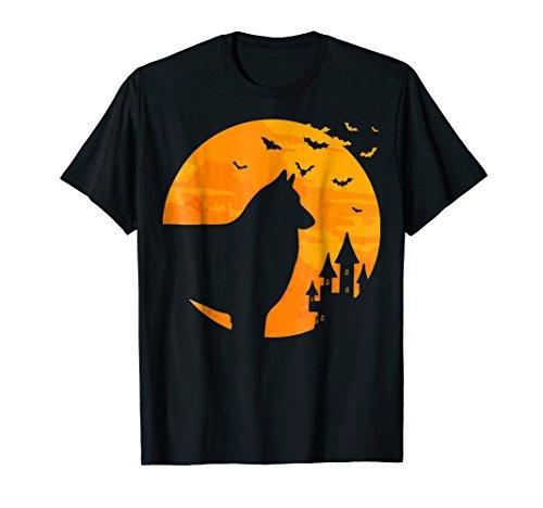 Mens Belgian Tervuren Tee Scary Halloween T Shirt Large Black