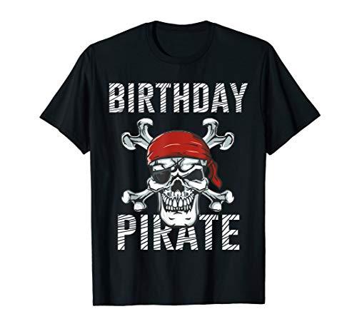 (Pirate Birthday Shirt   Adult Kids Skull Crossbones)