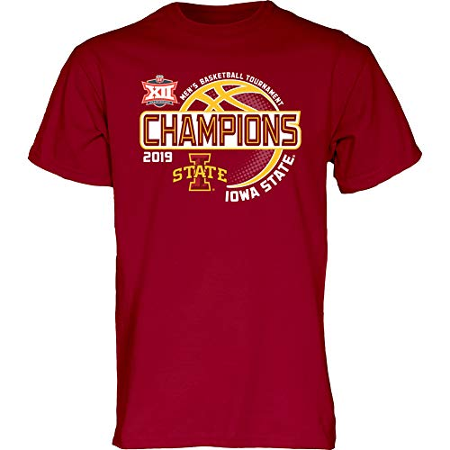 (Elite Fan Shop Iowa State Cyclones Big 12 Basketball Championship Tshirt 2019 Tournament - L - Cardinal)