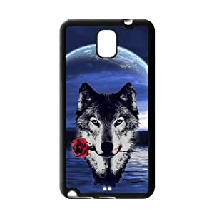 Howling wolf with Moon The wolf Mouth with roses case cover for Samsung Galaxy Note 3?