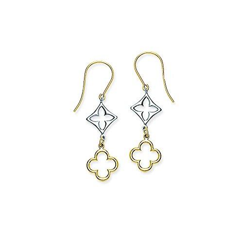 Clover Earring, 14Kt Gold Earring by DiamondJewelryNY