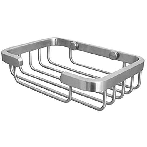Deezio Deluxe SUS-304 Stainless Steel Soap Dishes, Soap Holder, Soap Saver, Wall Mounted Soap Dish Shower Wire Soap Basket (Satin Nickel)