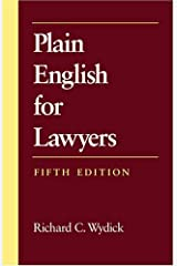 [Plain English for Lawyers] [Author: Wydick, Richard C.] [July, 2005] Paperback