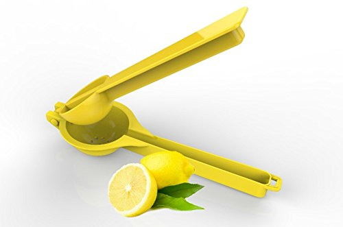 Handheld Lemon Wedge Lime Squeezer Manual Fruit Citrus Juicer Press for Juicing Lemonade , Kitchen Accessories Tool Yellow (Red Cast Iron Citrus Juicer compare prices)