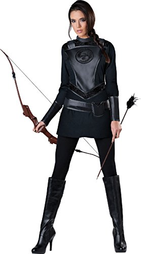 InCharacter Costumes Women's Warrior Huntress Costume, Black, Medium - Halloween Costumes Ideas For Women