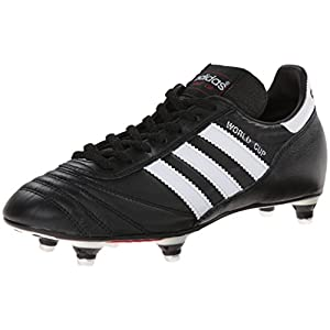 adidas Performance Men's World Cup Soccer Cleat,Black/White,7.5 M US