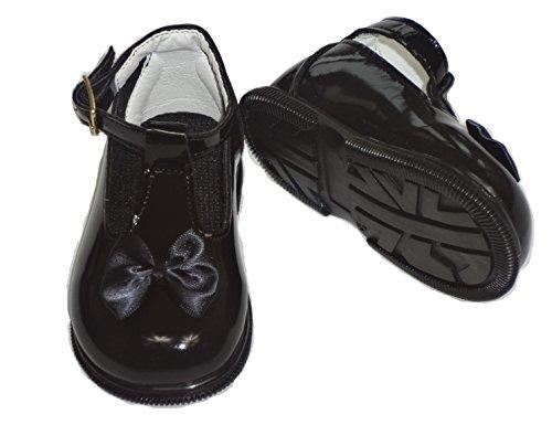 Bebé niñas bautizo zapatos tamaños 2A 6UK Rojo Negro Color Blanco Marfil Rosa negro