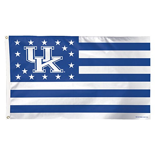 NCAA Kentucky Wildcats Stars and Stripes Deluxe Flag, 3 x 5', Multicolor