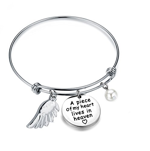 Memorial Jewelry Sympathy Gift A Piece of My Heart Lives In...