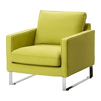 Awe Inspiring Ikea Mellby Armchair Cover Dansbo Yellow Green Amazon Co Interior Design Ideas Ghosoteloinfo