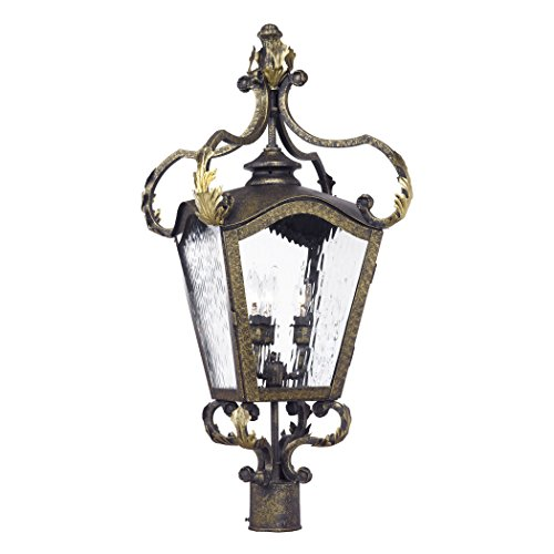 Castle Bronze Outdoor Hanging Lantern (Alumbrada Collection Acadiana Outdoor Post Lantern In Castle Bronze And Water Glass)
