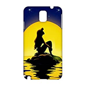 Evil-Store Beautiful sea yellow moon Mermaid 3D Phone Case for Samsung Galaxy Note3 wangjiang maoyi