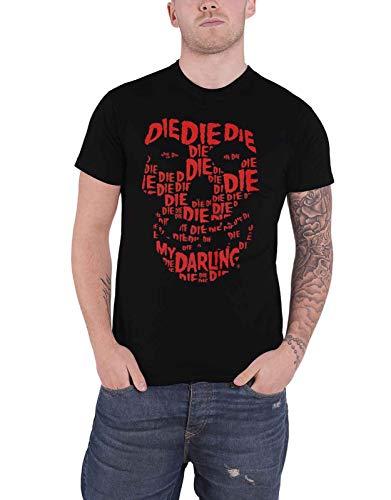 Misfits T Shirt Die Die Die Skull Band Logo Official Mens Black Size M