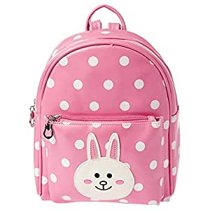Yuejin 8199-285 Fashion Backpack for Girls - Faux Leather, Light Pink