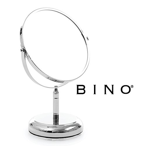 BINO 'The Classic' 6.5-Inch Double-Sided Mirror with 3x Magnification, Chrome by BINO
