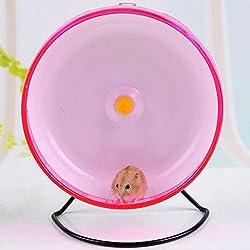 Qin ChenChen Hamster Pet Exercise Silent Wheel Running Spinner Toy Random Color