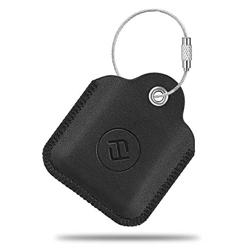- Fintie Genuine Leather Case for Tile Mate 2016 2018, Tile Pro, Tile Sport, Tile Style Key Finder Phone Finder, Anti-Scratch Protective Skin Cover Accessories with Keychain, Black
