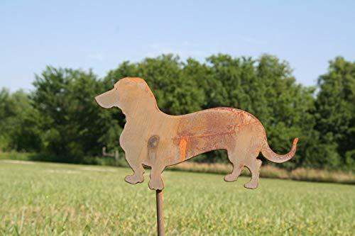 Metal Wiener Dog Garden Stake