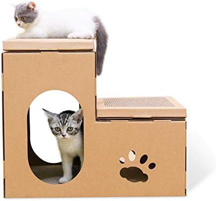 Fazeer Gato,Silla De Cama,Limpiador,cartón,Gato,habitación Doble,Caja De Raspadores,Cama De Gato,cojín,Muebles Y Garras De Gato: Amazon.es: Productos para mascotas