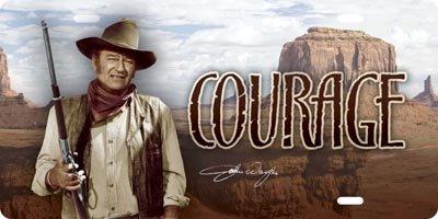 TAGS Hollywood John Wayne The Duke License Plate (Courage) (Best Auto Tags Wayne)