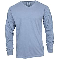 This heavyweight long sleeve tee's colors probably caught your eye. Once you have this sweatshirt in your hands, what you'll really fall in love with is how it feels. Lofty. Sure, it's love at first sight, destined to be a happy long-term rel...