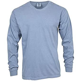 Comfort Colors Men's Adult Long Sleeve Tee, Style 6014, Blue Jean, Small