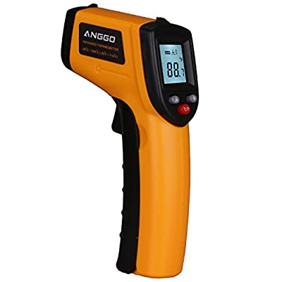 ANGGO IR Infrared Digital Temperature Gun Thermometer with Laser Point and LED Backlight (-58 °F to 716°F)