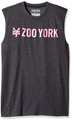 Zoo York Men's Sleeveless Muscle Tank Top, Straight Black Heather Medium