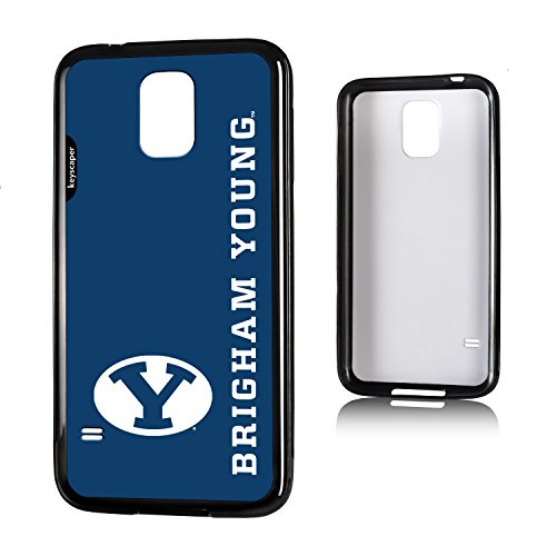 Brigham Young Cougars Galaxy S5 Bumper Case officially licensed by Brigham Young University for the Apple Galaxy S5 by keyscaper® Flexible Full Coverage Low (Brigham Young University)