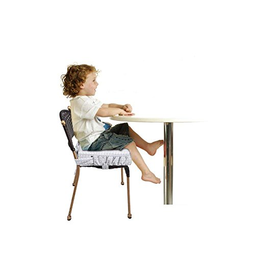 ZL Magic Kids Chair Booster Pad Dismountable Kids Dining Seats Booster Comfortable Cushion Baby Children High Chair Pad (Grey) by ZL Magic (Image #6)