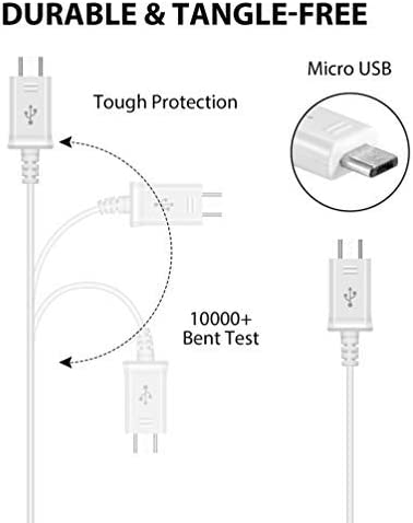 Genuine Charging 1A Wall Kit Upgrade Works with ROKU Express as a Replacement Plus Detachable Hi-Power MicroUSB 2.0 Data Sync Cable! (White 110-240v)