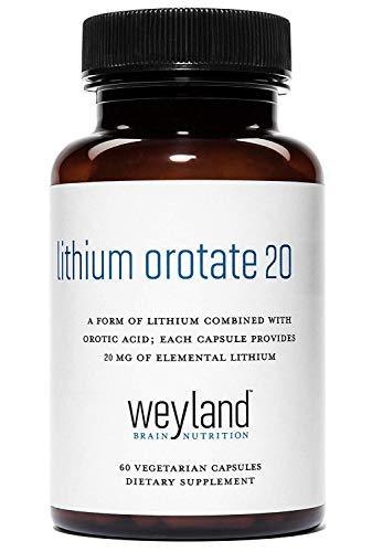 Weyland: Lithium Orotate 20mg (1 Bottle) (Best Lithium Orotate Supplement)