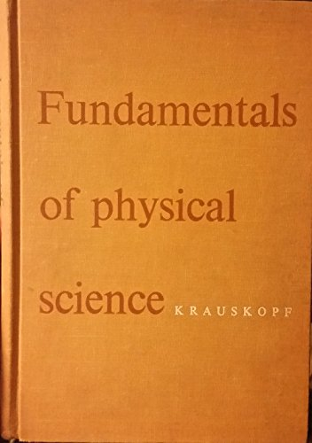 Large book cover: Funadamentals Of Physical Science