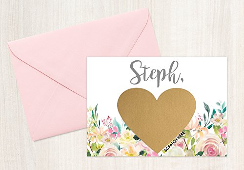 Matron of Honor Will you be my bridesmaid? Card Bridesmaid Proposal Card with Metallic Envelope PERSONALIZED Scratch Off GOLD HEART Will you be my: Maid of Honor