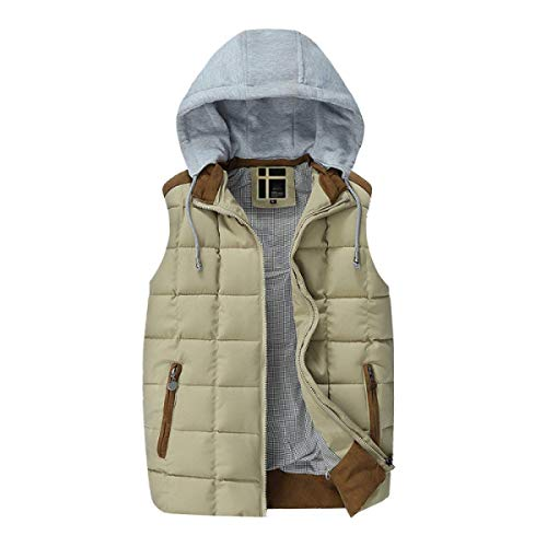 Fashion Cotton Brands Warm Breathable Men Vest Winter Khaki Autumn Jacket Vest Men Fashion BOLAWOO Lightweight Down Vest and Jacket qSpxtw