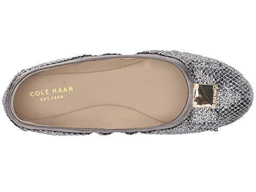 Cole Haan Women's Tali Bow Ballet Silver/Gunmetal Glitter Loafer by Cole Haan
