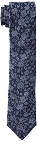 Tommy Hilfiger Paisley Tie (Tommy Hilfiger Men's Oxford Floral Print Slim Tie, Navy, One Size)