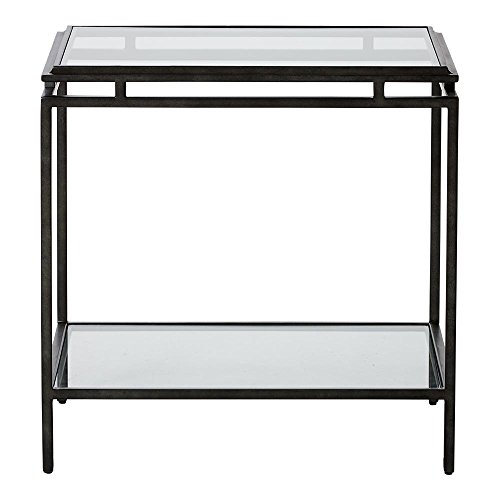 Ethan Allen Beacon End Table, Blackened Pewter