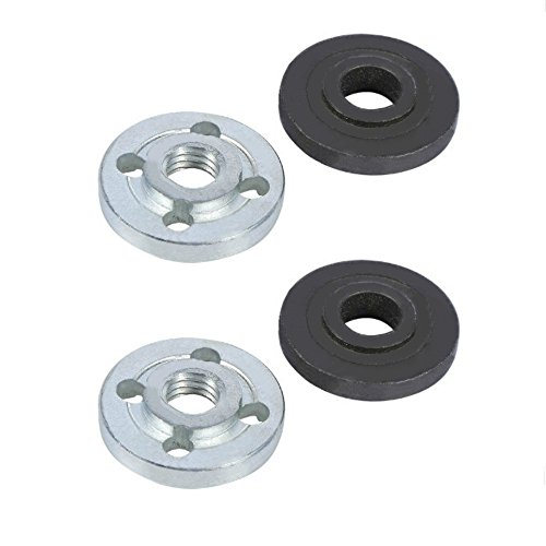 Angle Grinder Flange, 2 x Pair Replacement Electrical Angle Grinder Fitting Part Inner Outer Flange Nuts for Makita 9523 (Replacement Angle)