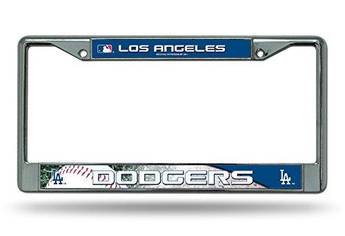 Dodger Frame (Los Angeles Dodgers Metal Chrome License Plate Frame Auto Truck Car Rico Industries)