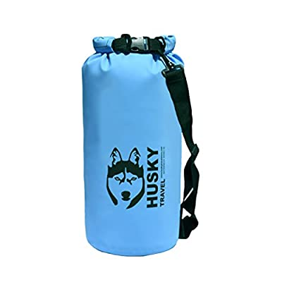 Waterproof Dry Bag 5L / 10L - Roll Top PVC Sack Keeps Gear Dry for Kayak, Canoe, Boat, Beach, Rafting, Hiking, Snowboarding, Water Park, Camping, Fishing - Shoulder Strap