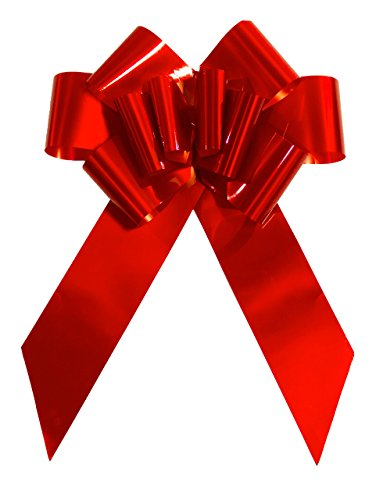 "Huge Ribbon - Giant Red Bow for Cars 23"" Perfect on a New Car Big Bows Tie, for Birthday Gifts on Graduation Gifts, New Houses, Christmas Presents. A Multipurpose Bow for Many Surprises."