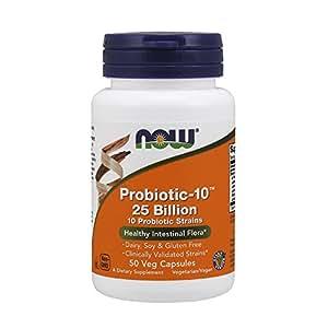 Now Foods Probiotic-10, 25 Billion 50 Vcaps