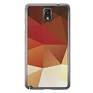 Loud Universe Samsung Galaxy Note 3 Geometrical Printing Files A Geo 29 Printed Transparent Edge Case - Multi Color